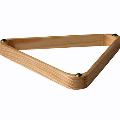 """Wooden Pine Pool Table Triangle With Gliders To Fit American 2 1/4"""" Pool Balls"""