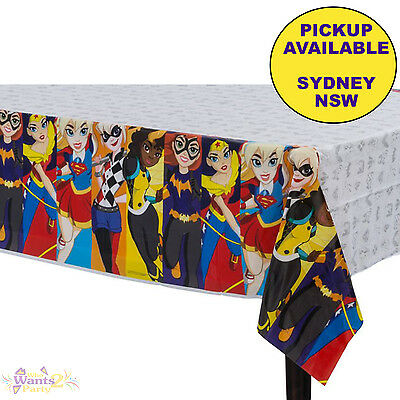 Super Hero Girls Party Supplies Plastic Tablecloth Table Cover Superhero