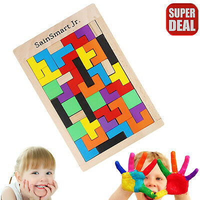 Sensory Educational Puzzle Toy Autism Special Need Tetris Creative Sorting Shape