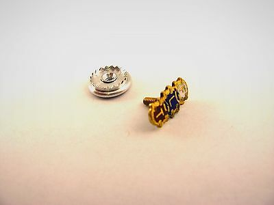 Vintage Lapel Hat Pin: FLT Oddfellows Fraternal Small Screwback Design