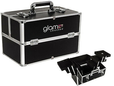 Professional 3 Tier Glam Beauty Make Up Nail Tech Cosmetic Box Vanity Train Case