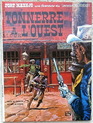 Blueberry 2c Fort Navajo 1971 TTBE pages de garde rouge Giraud Charlier