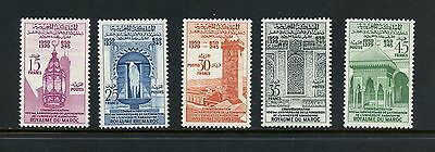 Morocco 1960  #39-43  Moorish architecture  lamps fountains    5v.  MNH  H919