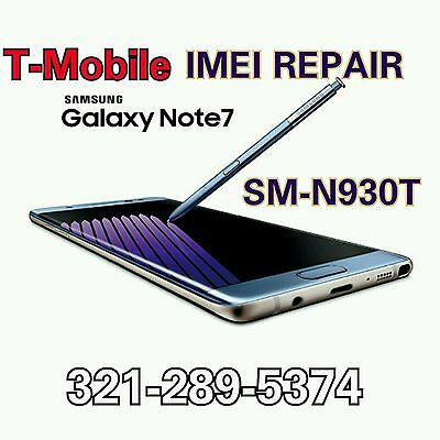 T-Mobile GALAXY Note 7 N930T IMEI REPAIR Blacklist FIX - MAIL IN OR REMOTELY