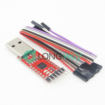 USB 2.0 to TTL UART 6PIN Module Serial Converter CP2102 STC PRGMR Free cable