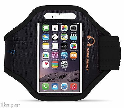 Gear Beast Sport Gym Running Armband with Key Holder and Free Strap Extender