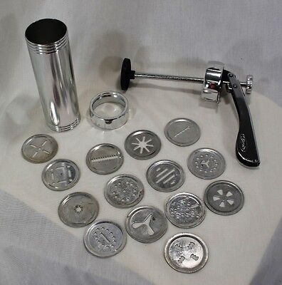 Christmas 17 Pc Shule Biscuits Brand Stainless Spritz Cookie Press Pastry Gun