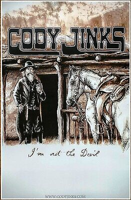 CODY JINKS I'm Not The Devil 2016 Ltd Ed RARE Poster +FREE Folk Country Poster!