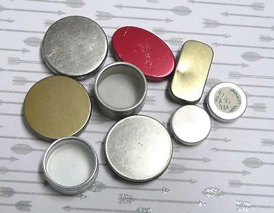 Steampunk Watch Tins Empty Assorted 15-30mm x 9PC