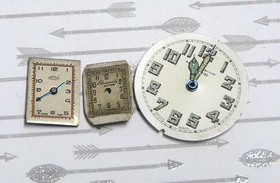 Steampunk Watch Parts Watch Faces Assorted 16-28mm x 3PC