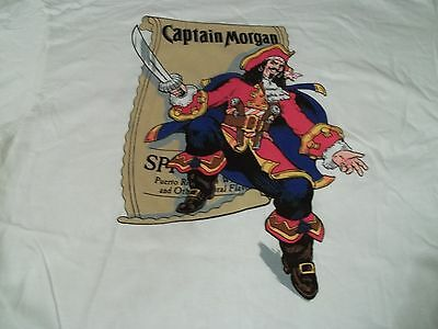 NEW! True Vtg CAPTAIN MORGAN RUM Key To Adventure XL Pirate LIQUOR Party T-SHIRT
