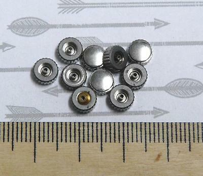 Steampunk Watch Parts Assorted Crowns Silver 6mm x10PC