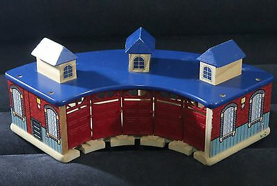 Imaginatium Wooden Thomas The Tank Roundhouse Station/shed Brio Compatible