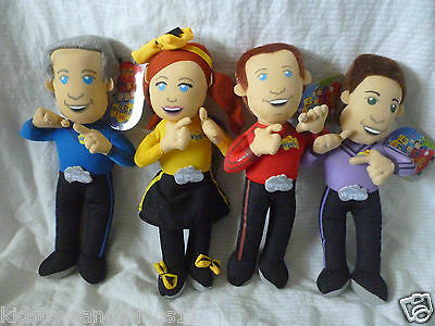 THE WIGGLES - SET of 4 Wiggles Plush Soft Dolls Toy 25cm tall BNWT Emma, Anthony