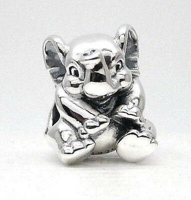 New Authentic PANDORA LUCKY ELEPHANT CHARM #791902 W/Pandora TAG & HINGED BOX