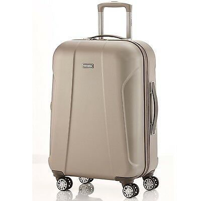 travelite - ELBE TWO 4-Rad Trolley 40L / 55cm Hartschalenkoffer Bordcase SAND
