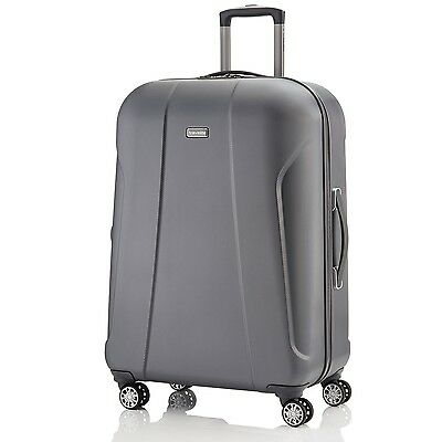 travelite - ELBE TWO 40L / 55cm  4-Rad Trolley Bordgepäck Hartschale Anthrazit