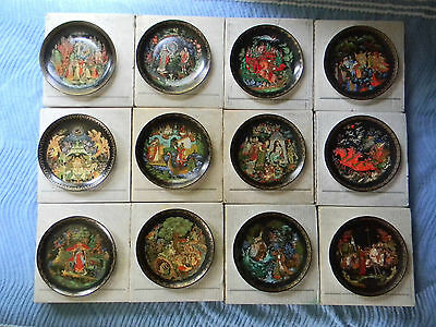 RUSSIAN LEGENDS 1-12 Fairy Tale Plate Bradford Exchange, with COA's & Frames