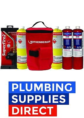 * Rothenberger - Hot Bag with Superfire 2 Torch & 2 Mapp & 2 Propane bottles