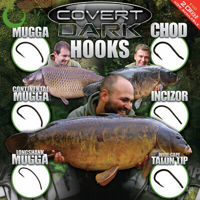 Gardner Tackle Covert Dark Hooks (Full Range) - Carp Barbel Tench Coarse Fishing