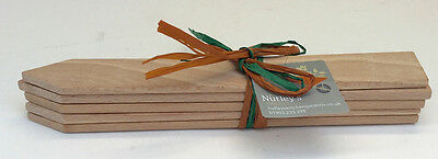 Nutley's Small Wooden Plant Labels Pack of 5 Garden Tools Planting