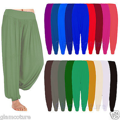 Womens Harem Trousers Ali Baba Long Pants Baggy Hareem Leggings Plus Sizes 8-26