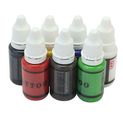 15ml (1oz) Unit 7 Color Tattoo Inks Pigment Supplies Set Bottles Kits Makeup
