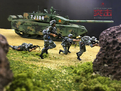 Resin soldier 1/35 resin figure Modern Chinese army 4pcs