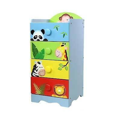 Fantasy Fields by Teamson Sunny Safari 4 Drawer 4 Handle Chest
