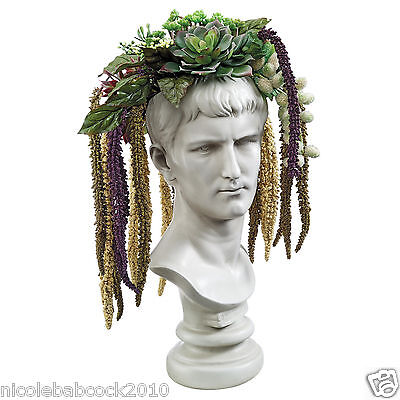 Bust Planters of Antiquity Statues: Emperor Caligula sculptural bust decor