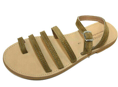 ANCIENT GREEK STYLE SANDALS Womens Genuine Leather Handmade Spartan Roman Shoes