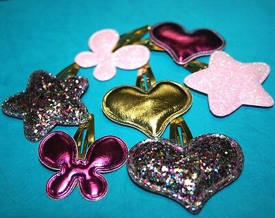Baby Infant Toddler Girls Hair Clip Snap Bow Prong Butterfly Star Heart Dress Up