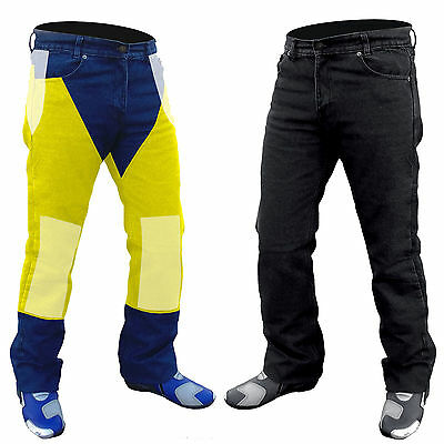 """NEW MOTORCYCLE FULLY REINFORCED WITH DuPont™ KEVLAR JEANS PANTS BLACK 52""""W"""