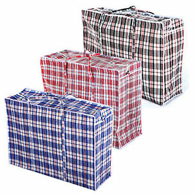 Large Reusable Storage Laundry Bags Shopping Strong Zipped Different Sizes