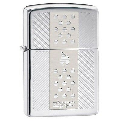 Zippo 29242 Chimney Design High Polish Chrome Finish Full Size Lighter