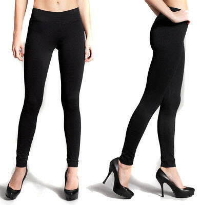 High Waist Leggings Women's Solid Plain Stretch Long Seamless Yoga Fitness
