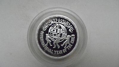 1981 Egypt 5 pounds YEAR OF THE CHILD SILVER PROOF COIN