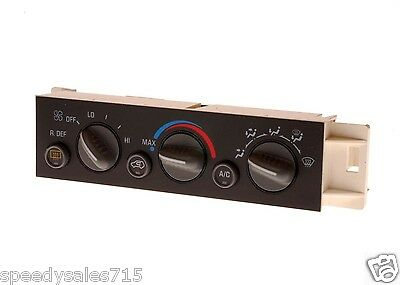 1996-2000 Chevrolet GMC AC Delco Heater Control Panel HVAC WITH REAR DEFROST New