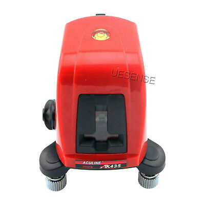 AK435 360 Degree Self-leveling Cross Laser Level Red 2 Line 1 Point