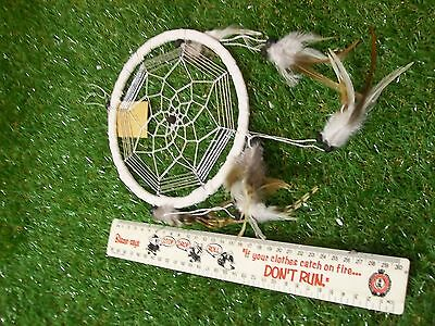 Dream Catcher -Medium -7 inches (18cm) in diameter (White)