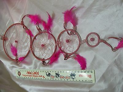 Dream Catcher -Medium -6 inches (15cm) in diameter (Pink)