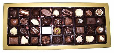 VEGAN! Assorted 36 Piece Gourmet Couverture Chocolate Gift Box - For Him / Her
