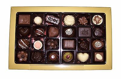 VEGAN! Assorted 24 Piece Gourmet Couverture Chocolate Gift Box - For Her / Him