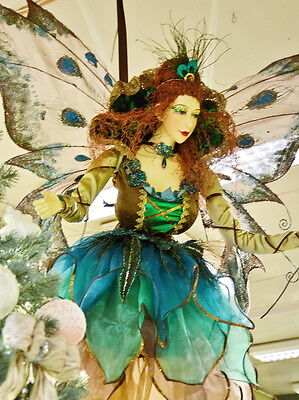Huge Flying Peacock Angel Girl Fairy Christmas Doll 58' Home / Shop window Decor
