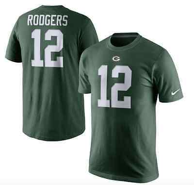 Green Bay Packers Nike Aaron Rodgers Player Name and Number T-Shirt