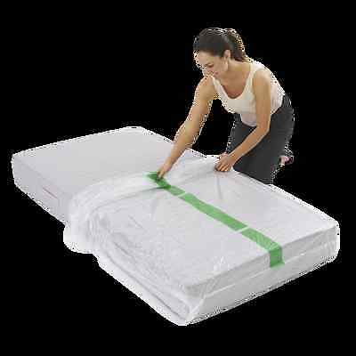 Single Size Mattress Protect Plastic Cover Moving &Storage Bag pick up underwood