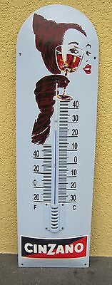 Cinzano email Thermometer  22x75cm