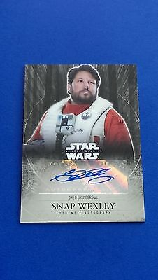2016 Star Wars Chrome The Force Awakens Autograph - Greg Grunberg as Snap Wexley