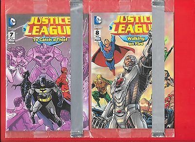 General Mills # 5, 6, 7, and 8. Justice League Comic Set Of 4. & issue #2 sealed