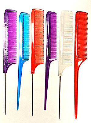 12pc Comb Set Rat Tail Bone & Pin Assortment Hair Cut Style Salons Brands Vary